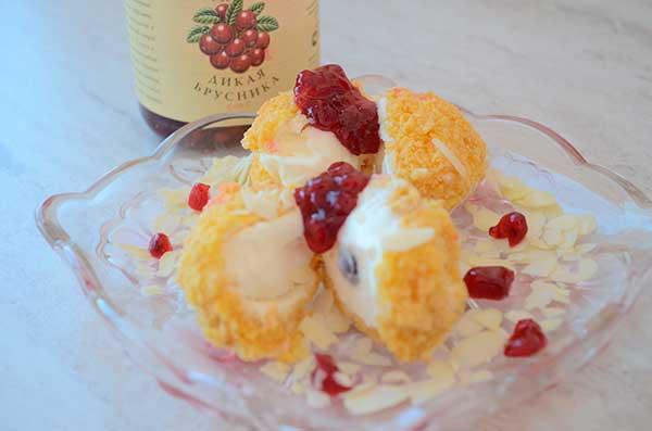 Жареное мороженое рецепт фото домашних