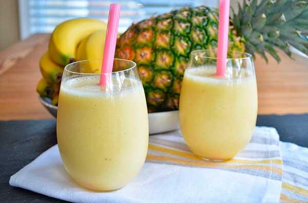 Молочный коктейль с ананасовым соком
