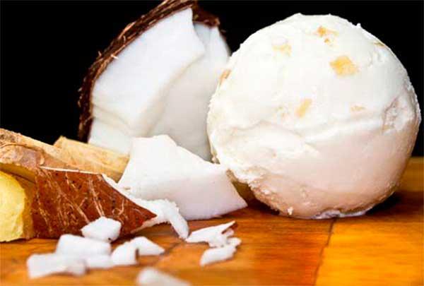 Простой рецепт кокосового мороженого