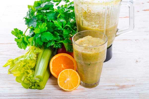 Рецепт смузи из сельдерея апельсина и киви