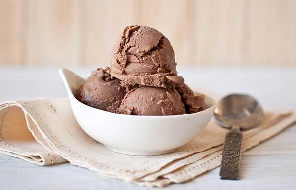 Молочно-шоколадное мороженое