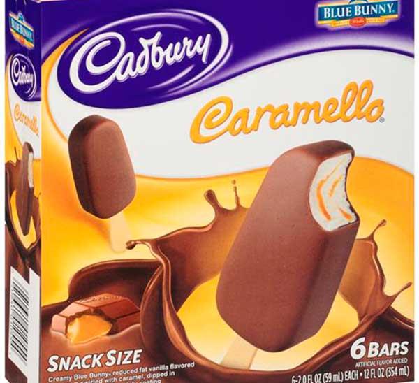 Мороженое сорта Карамелло