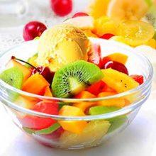 Фруктовый салат с мороженым — блюдо № 1 к праздничному столу