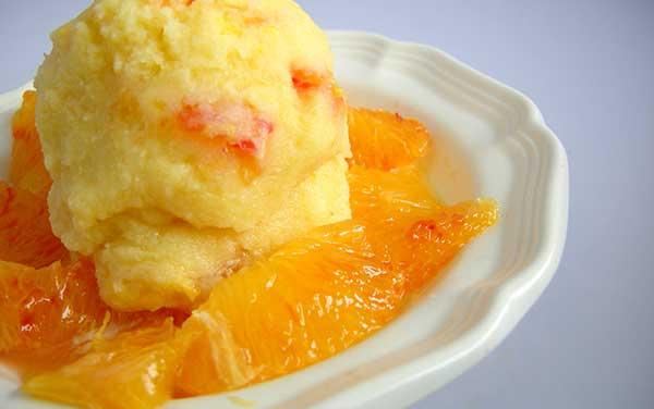 Апельсиновый сорбет с ликёром