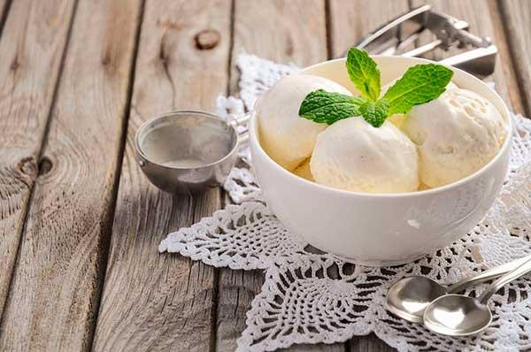Домашнее мороженое на основе козьего молока обычное