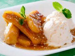 4 рецепта жареных бананов с мороженым как в кафе