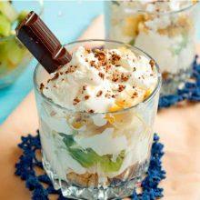Мороженое с фруктами и шоколадом «Незабываемый вкус»