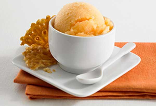 Дынное мороженое со сгущенкой