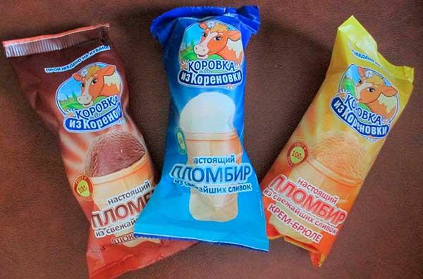 Мороженое Коровка из Кореновки ассортимент