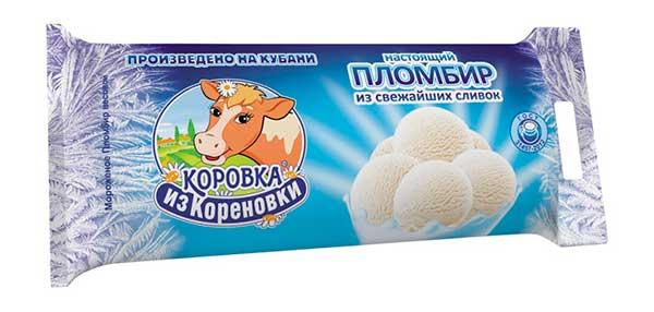 Мороженое Коровка из Кореновки калорийность